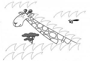 giraffe trace worksheet