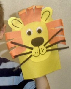 hand puppet lion craft