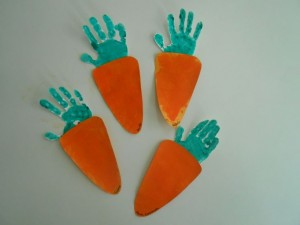 handprint carrot craft