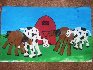 handprint cow and horse craft