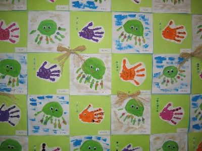 handprint fish and octopus