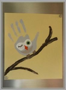 handprint owl craft