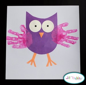 handprint owl craft for kids
