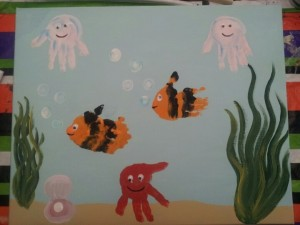 handprint sea animal craft