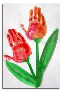 handprint tulip craft