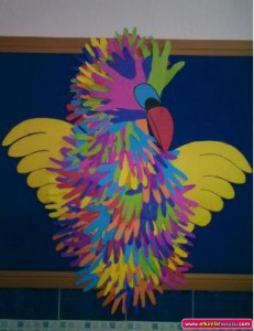 handprint_parrot_craft_for_kids