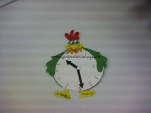 hen clock craft