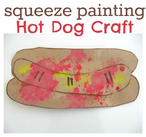 Hot Dog Craft on color by number coloring pages for preschool