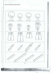math worksheet : long or short worksheets for preschool  crafts and worksheets for  : Long And Short Worksheets For Kindergarten