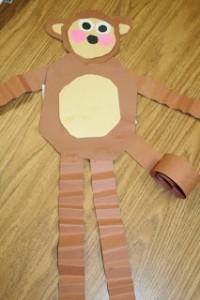 Monkey Paper Plate Craft
