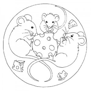 mouse  mandala coloring page