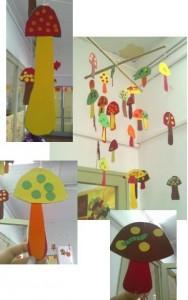 mushroom mobile craft