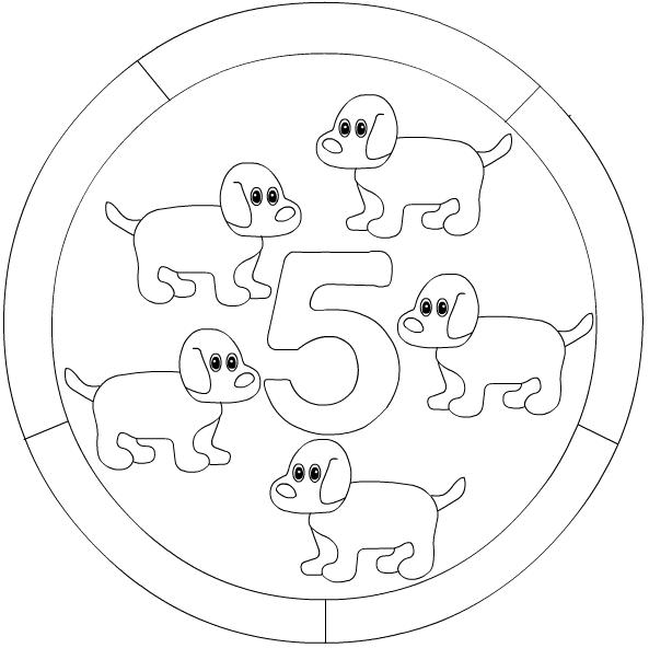 Numbers mandala coloring page Crafts and Worksheets for