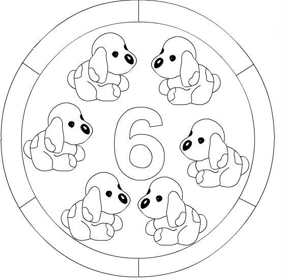 Numbers mandala coloring page | Crafts and Worksheets for Preschool ...