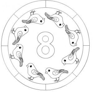 number 8 mandala coloring