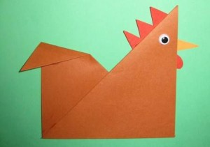 Paper Chicken Craft For Kids
