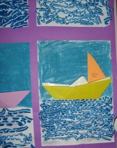 origami sailboat craft