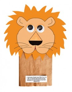 paper bag lion craft