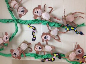 paper bag monkey craft