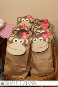paper bag monkey craft idea