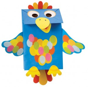 paper bag parrot craft