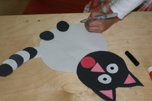 paper cat craft idea for kids