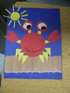 paper crab craft