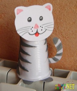 paper cup cat craft