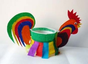 paper cup chicken craft