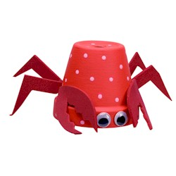 paper cup crab for kids