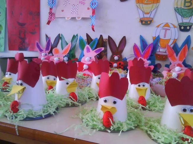 paper cup hen craft