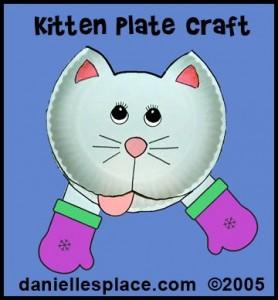 paper plate cat craft idea for kids (2)
