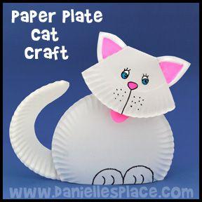 paper plate cat craft idea for kids (3)