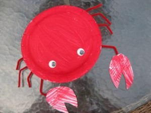 paper plate crab craft