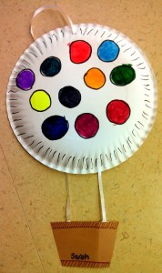 paper plate hot air balloon