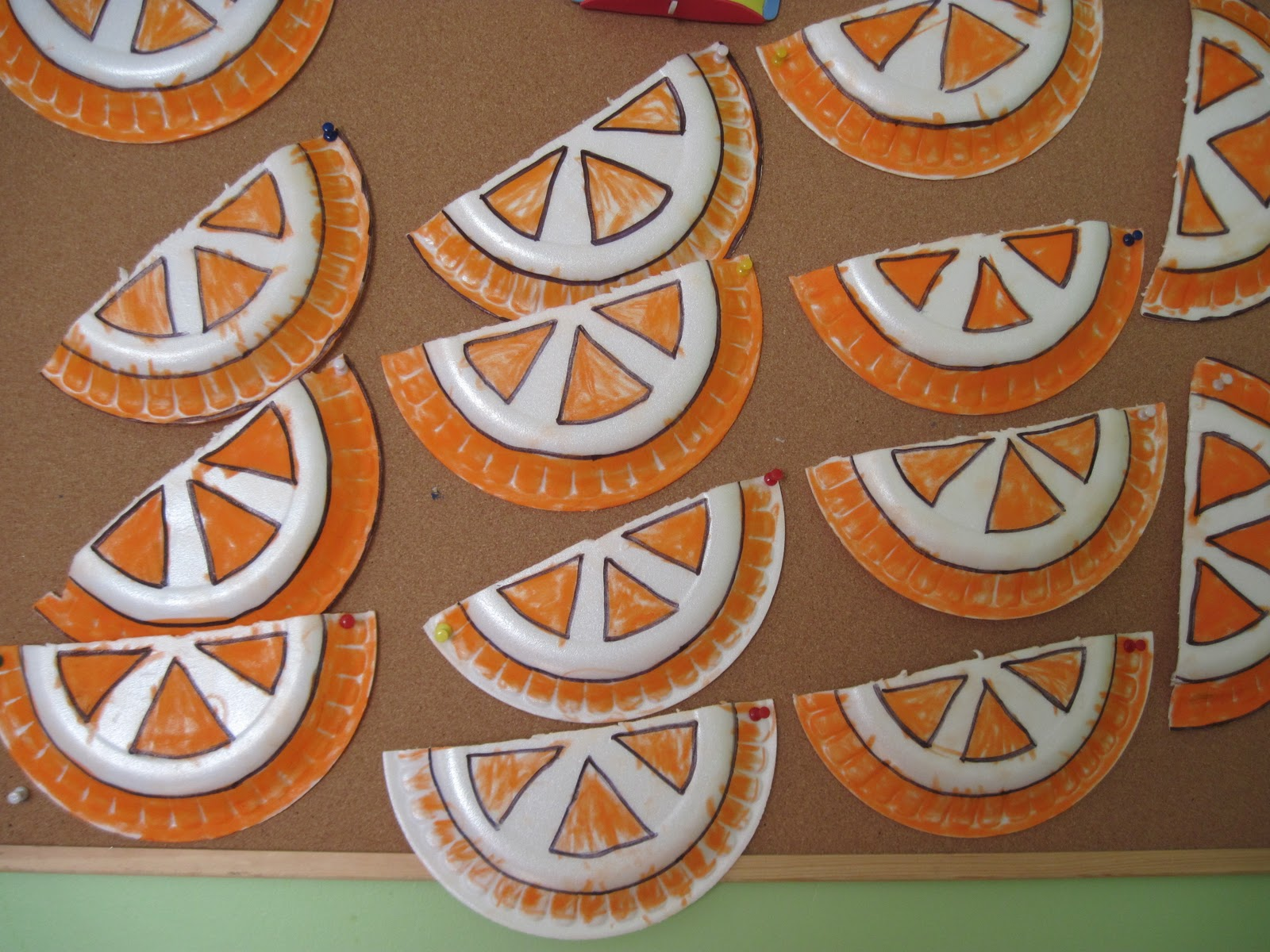 paper plate orange craft