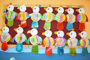 paper plate parrot craft idea for kids