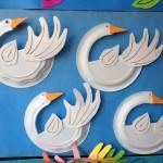paper plate swan craft1