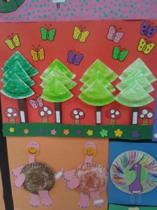 paper plate tree craft