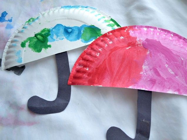 paper plate umbrella craft & CraftsActvities and Worksheets for PreschoolToddler and Kindergarten