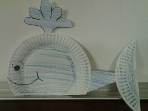 paper plate whale 1