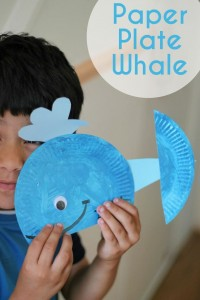 paper plate whale craft