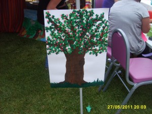 pasta tree craft