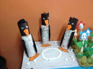 penguin bottle craft