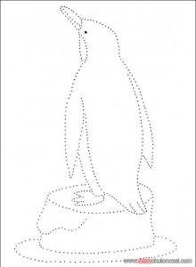 penguin trace worksheet