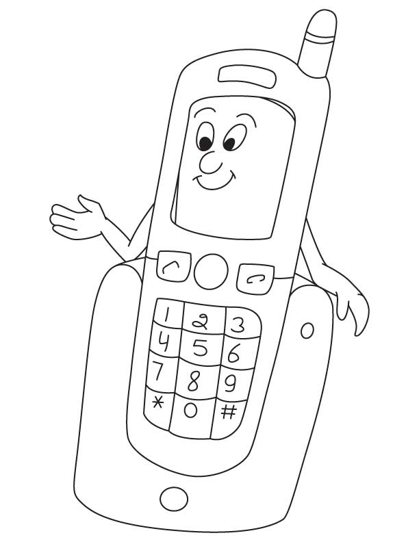 Coloring pages phone ~ Crafts,Actvities and Worksheets for Preschool,Toddler and ...