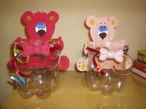 plastic bottle bear craft