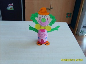 plastic bottle clown craft