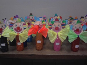 plastic bottle clown craft for kids
