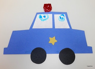 police car craft idea for kids